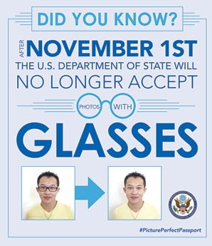 No Eyeglasses policy
